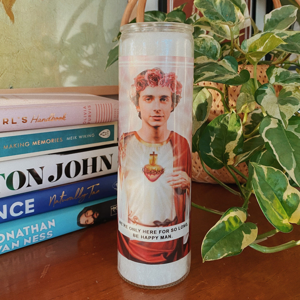Saint Timothee Chalamet Prayer Candle