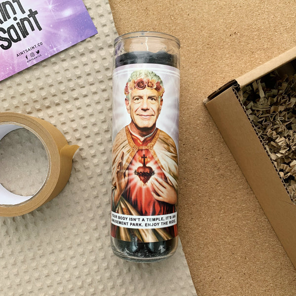 Saint Anthony Bourdain Prayer Candle