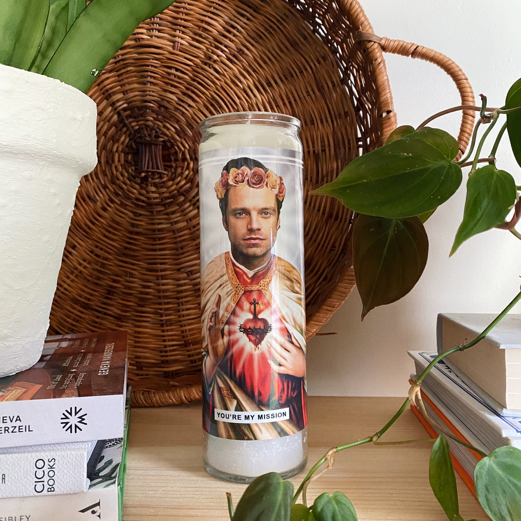 Saint Sebastian Stan | Bucky Barnes | Winter Soldier Prayer Candle