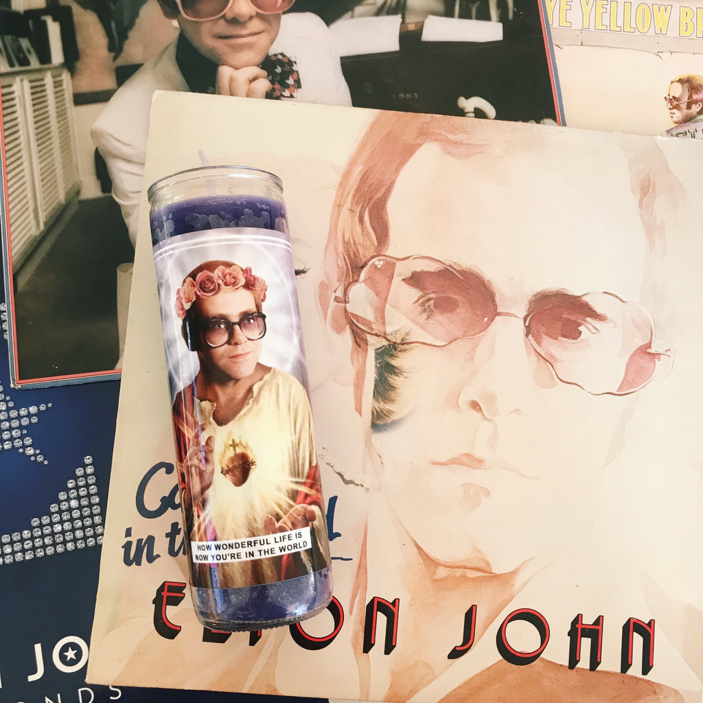 Saint Elton John Prayer Candle