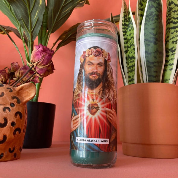 Saint Jason Momoa Prayer Candle