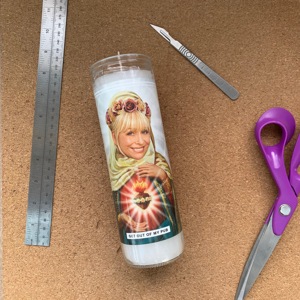 Saint Peggy Mitchell | Barbara Windsor | Eastenders Prayer Candle