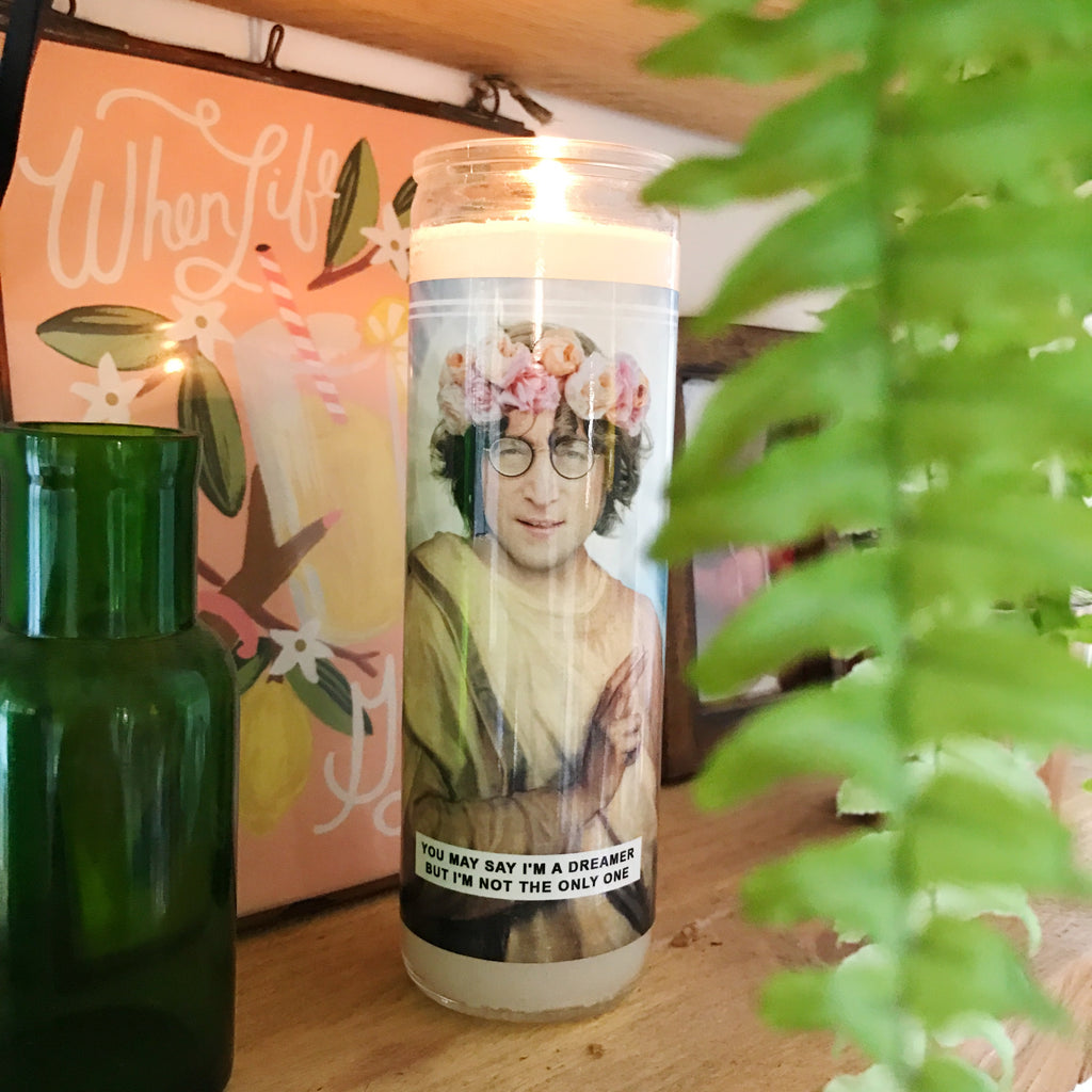 Saint John Lennon | The Beatles Prayer Candle