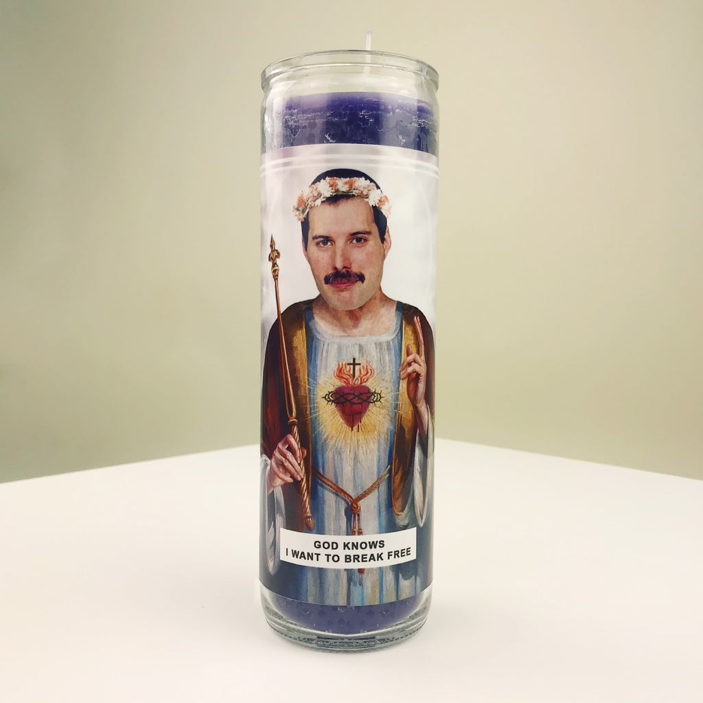 Saint Freddie Mercury Prayer Candle