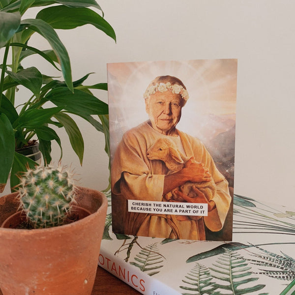 Saint Attenborough | Sir David Attenborough Greetings Card