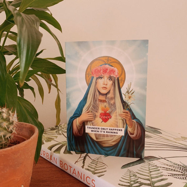 Saint Stevie Nicks | Fleetwood Mac Greetings Card