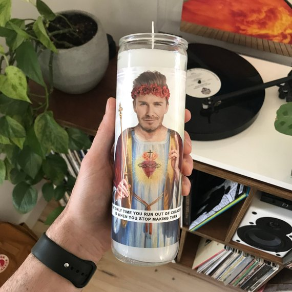 Saint Beckham Prayer Candle