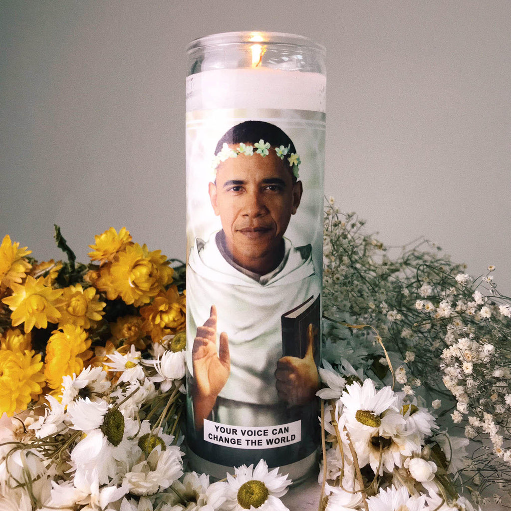 Saint Barack Obama Prayer Candle