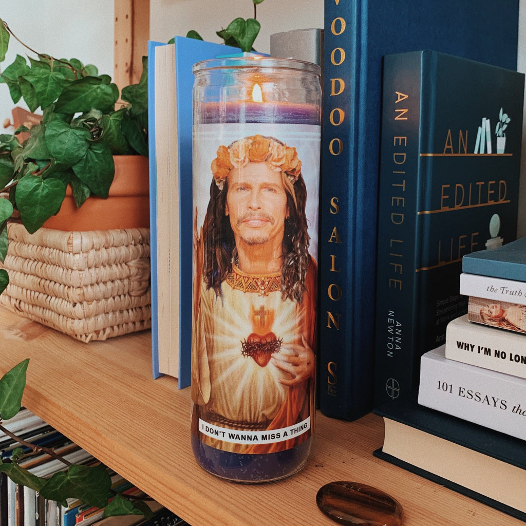 Saint Steven Tyler Aerosmith Prayer Candle