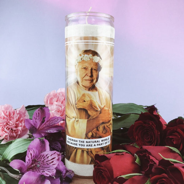 Saint Attenborough Prayer Candle