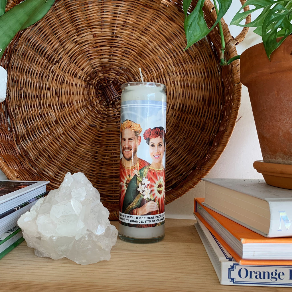 Saint Harry and Meghan Prayer Candle