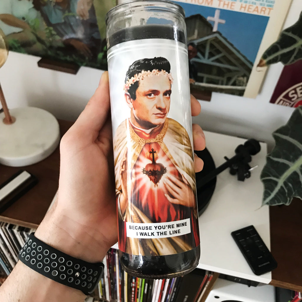Saint Johnny Cash Prayer Candle