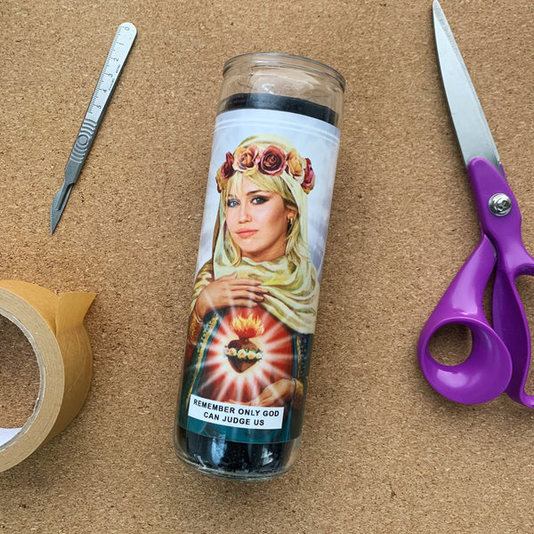 Saint Miley Cyrus Prayer Candle