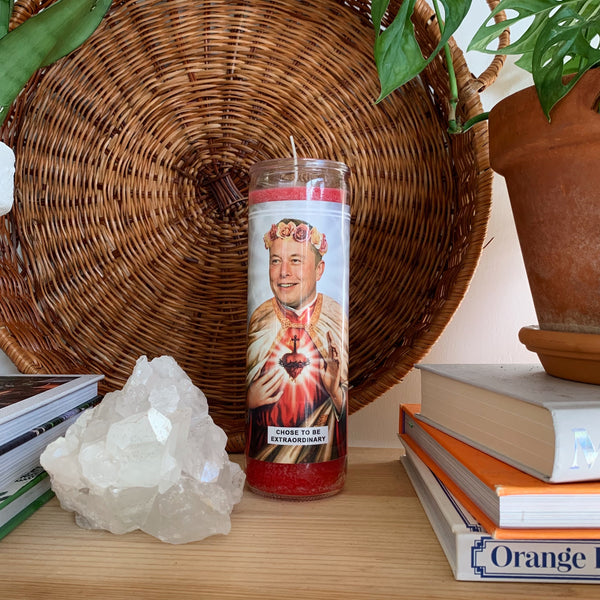 Saint Elon Musk Prayer Candle
