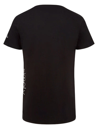 SIMPLY GYM MENS SIDE PRINT T SHIRT