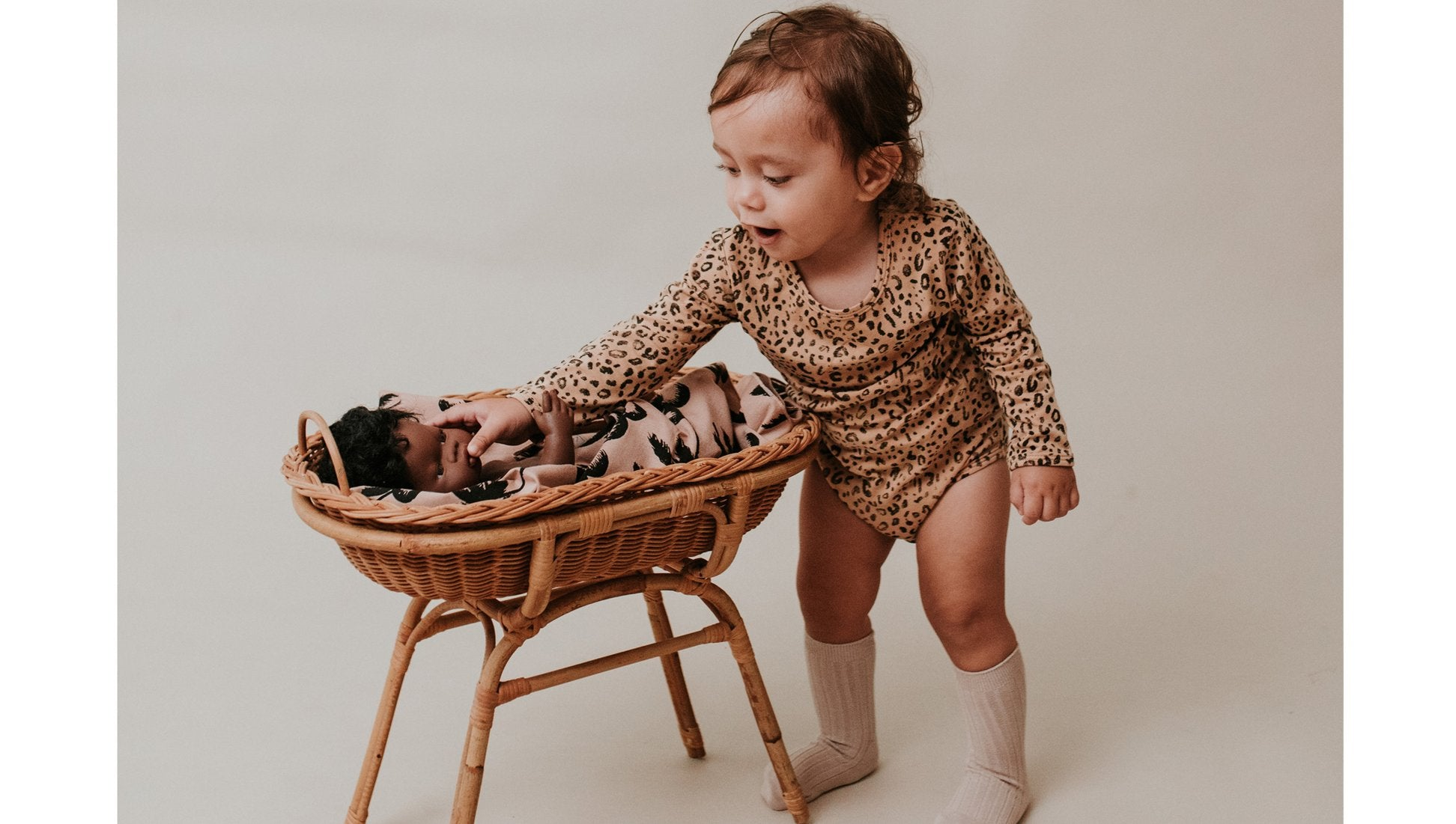 Animalia Long Sleeve Onesie