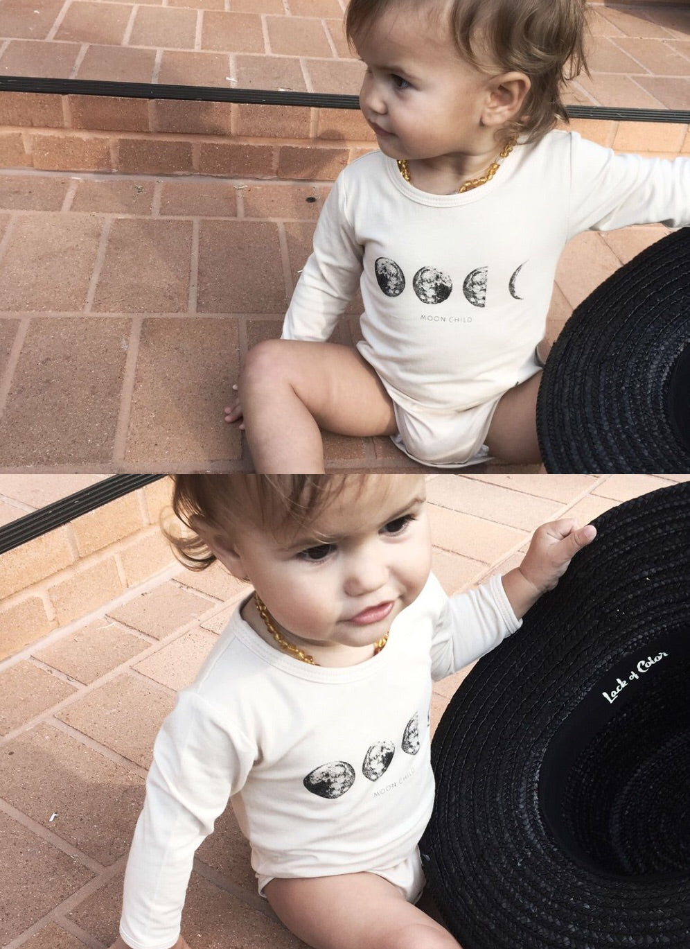 Moon Child Long Sleeve Onesie