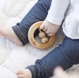 You Are... Natural Wooden Teething Rattle Ring