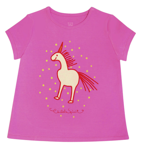 T-shirt w. unicorn