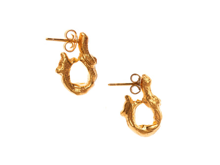 La Via Earrings, Gold