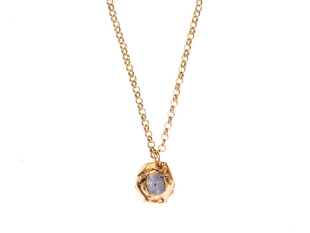 The Gilded Orbit of Saturn Necklace