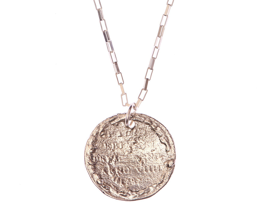 The Snow Lion Medallion Necklace // MAN