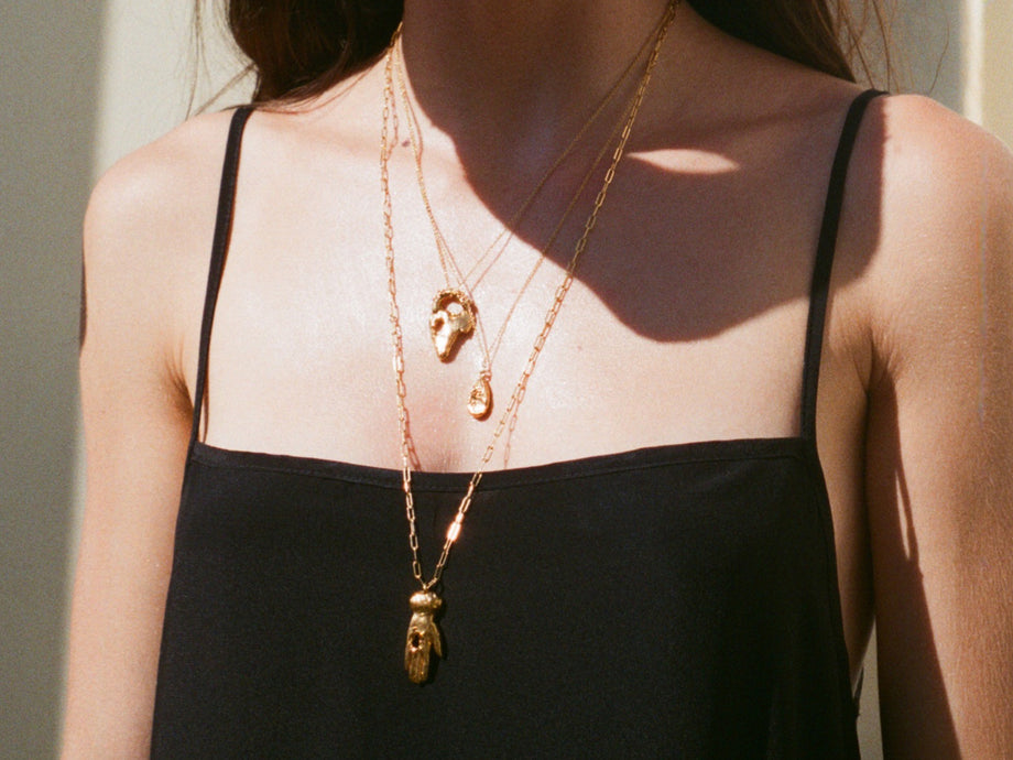 The Solitary Tear Necklace