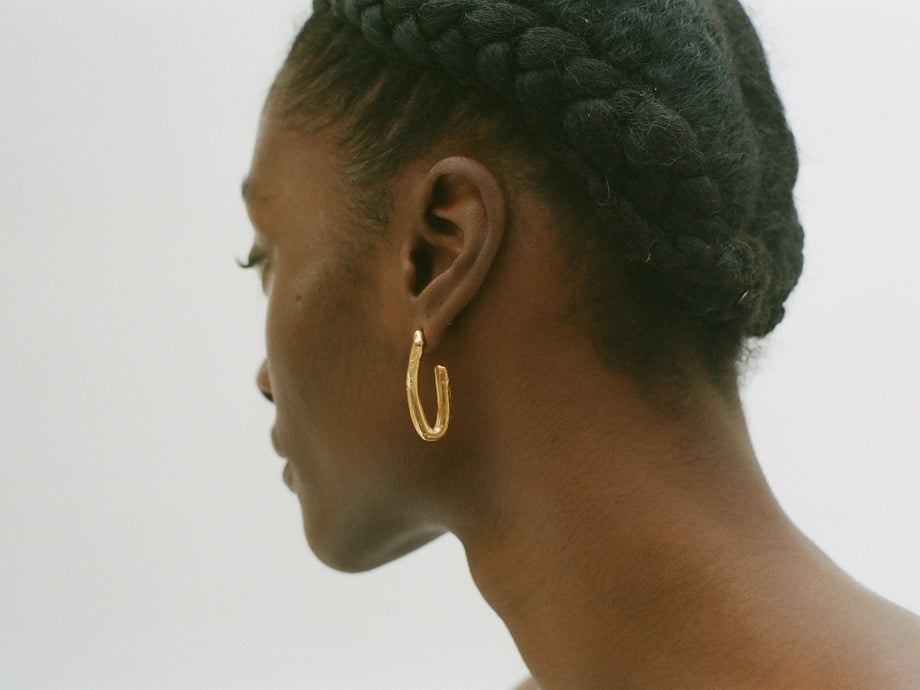 A Mind, In Flight Hoop Earrings