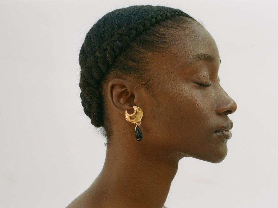 The Onyx Nightfall Earrings