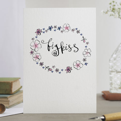'Big Kiss' Garland Card