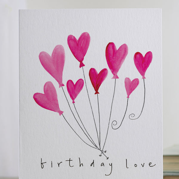 'Birthday Love' Hearts Card