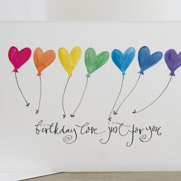 'Birthday Love Just For You' Card