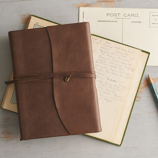 Handmade Luxury Brown Leather Travel Journal