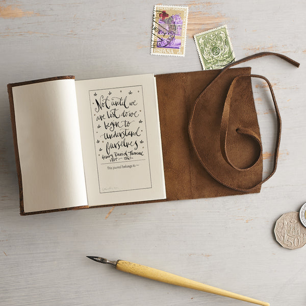 Small Brown Leather Travel Journal - Option 1