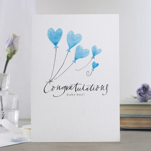 'Congratulations Baby Boy' Card
