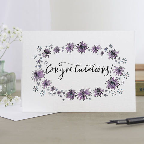 'Congratulations!' Floral Card