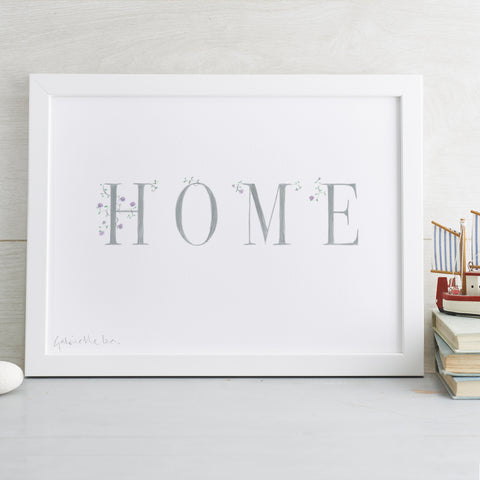'Home' Decorative Hand Finished Art Print
