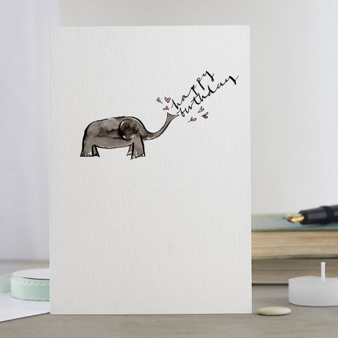 'Elephant Happy Birthday' Card