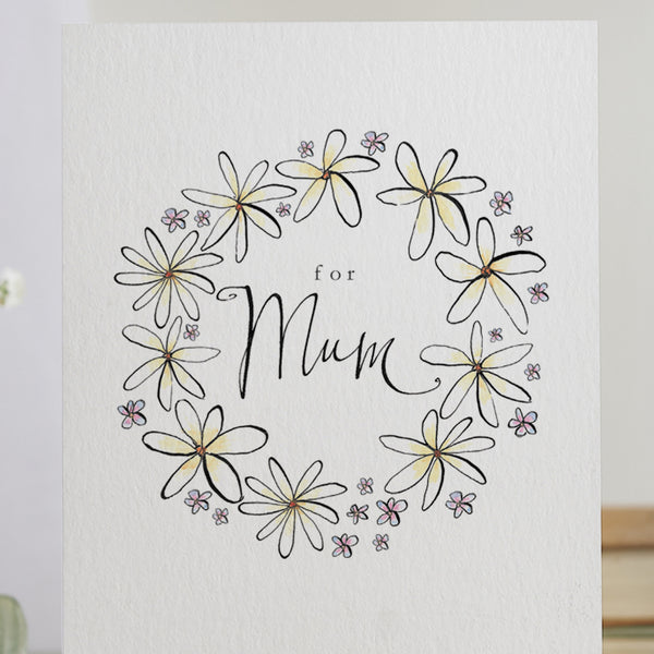 'For Mum' Floral Card