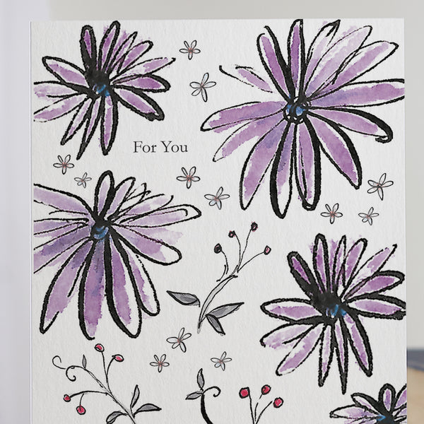 'For You' Flower Card