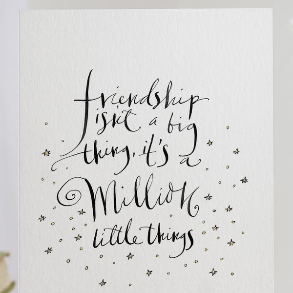 'Friendship Isn't A Big Thing' Card