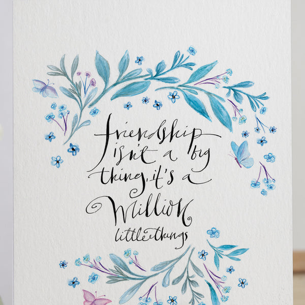 Friendship Isn't A Big Thing' Brass Keepsake