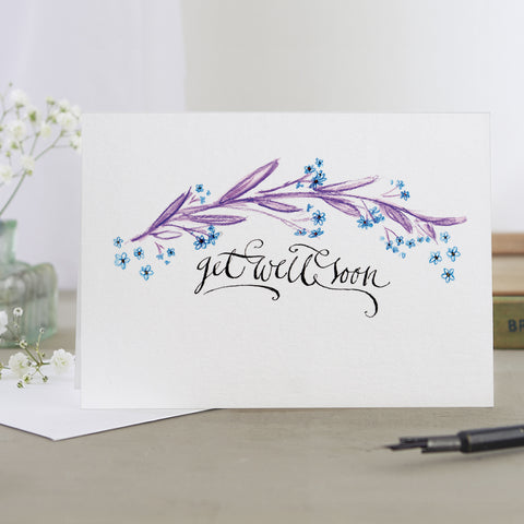 'Get Well Soon' Decorative Card