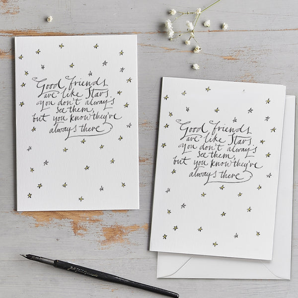 'Good Friends Are Like Stars' Card Pack