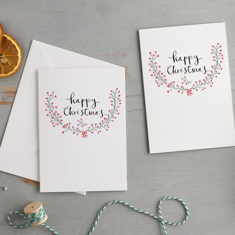 'Happy Christmas' Christmas Card Pack