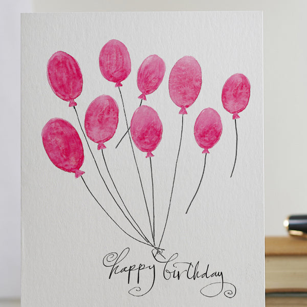 'Happy Birthday' (balloons) Card
