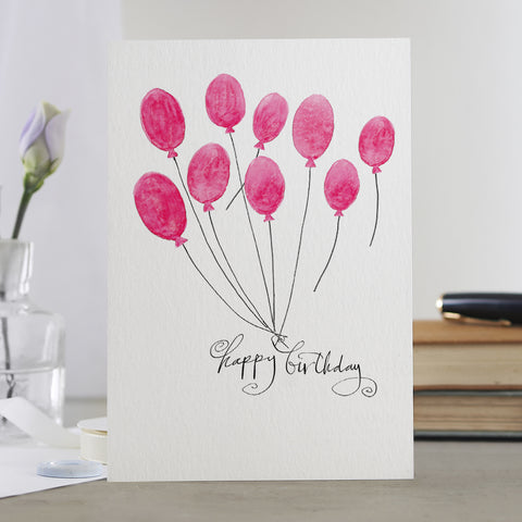 'Happy Birthday' Balloons Card