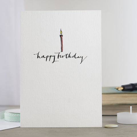 'Happy Birthday Candle' Card