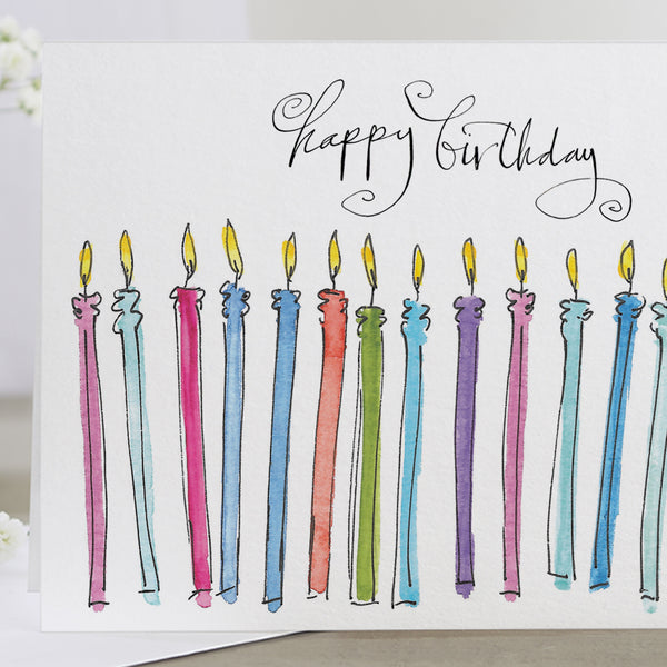 'Happy Birthday' Candles Card