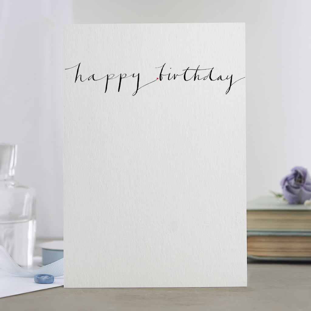 'Happy Birthday' Calligraphy Card